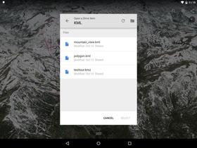 Nå kan man åpne sine egne KML-filer i Google Earth, og vise egne data og tilleggsinformasjon.