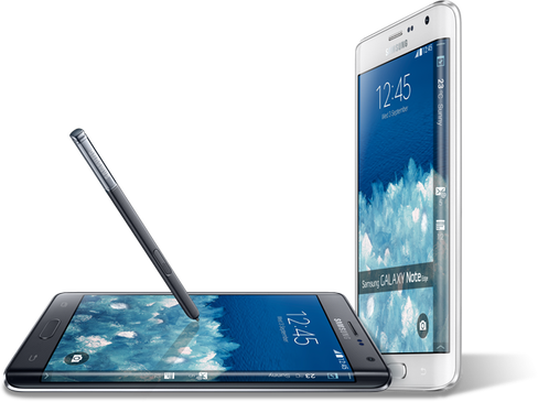 Samsung Galaxy Note Edge.