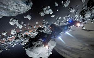 Mange deler av verdensrommet er fulle av rot. (bilde: Frontier Developments).
