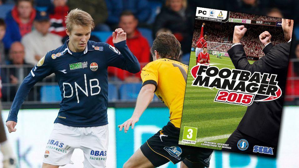 Martin Ødegaard (t.v.) i duell med Lillestrøms Marius Lundemo.