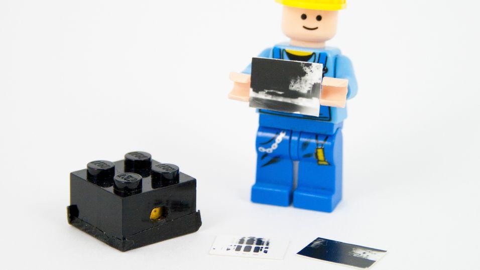 Laget kamera av én LEGO-kloss