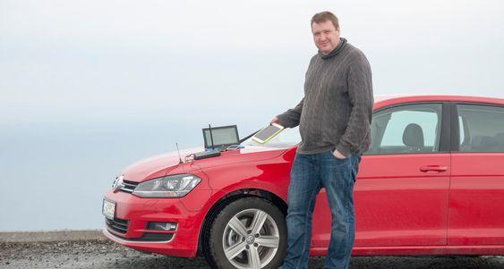 LANG KJØRETUR: Vår journalist Finn Jarle Kvalheim kjørte fra Oslo til Vestkapp til Nordkapp for å finne Norges raskeste 4G-nett.