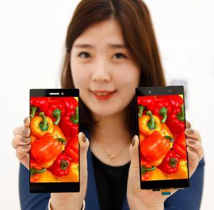 Slik kan mobiltelefoner med den nye skjermen se ut.