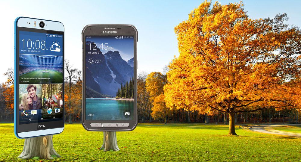 HTC Desire Eye og Samsung Galaxy S5 Active er begge vanntette, og dukker opp i løpet av november.