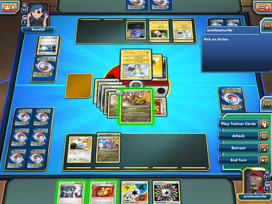 Samle kort og Pokémon.
