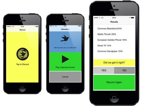 Fra den enkle prototypen av appen.