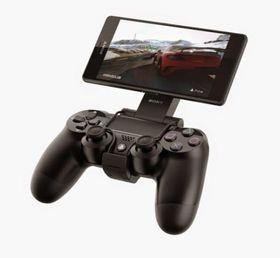 Slik fungerer GCM10 Game Control Mount med PS4-kontrollen og en Xperia Z3-mobil.