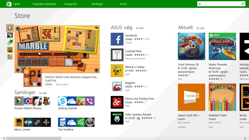 LEKKER BUTIKK: Grensesnittet til app-butikken i Windows 8.1 er mye mer oversiktlig enn i forgjengeren.