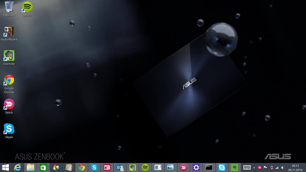 GAMMEL OG GOD: Det ser kanskje ikke like flott ut, men skrivebordet til Windows 8.1 er nok der jeg hører hjemme til Microsoft får Modern UI på stell.
