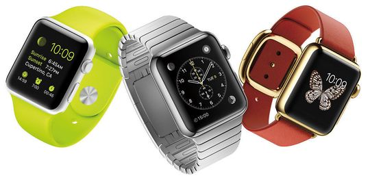 KLOKKE MED NY TID: Apple Watch ble avduket på tampen av en pressekonferanse hvor både iPhone 6 og Apple Pay også skulle presenteres. Dermed ble tiden på Apple Watch justert til 10:09.