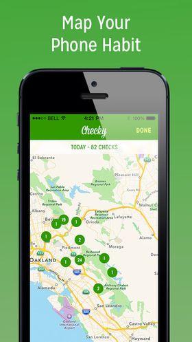 I Checky kan du enkelt se hvor det er du har brukt telefonen mest.