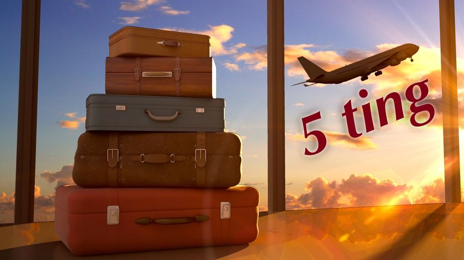 5 ting du må ha med på reise