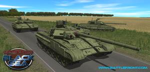Russiske stridsvogner. (bilde: Battlefront).
