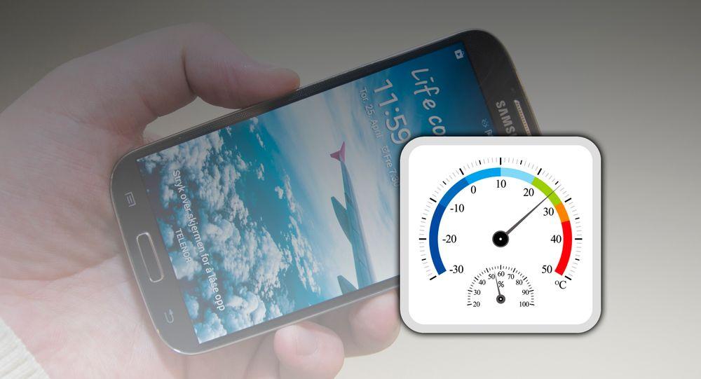 Enkelte telefoner kommer med sensorer for temperatur og luftfuktighet. Så langt er det imidlertid et godt stykke mellom telefonene som kommer med disse sensorene.