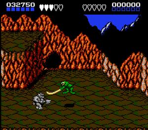 Slik så Battletoads ut på Nintendo. .