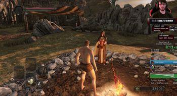 Han spiller gjennom hele Dark Souls II på én time