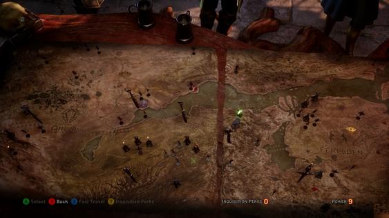 Jo flere oppdrag du gjør, jo flere nye oppdrag låser du opp i det sørlige Thedas. (Skjermbilde: Gamer.no).
