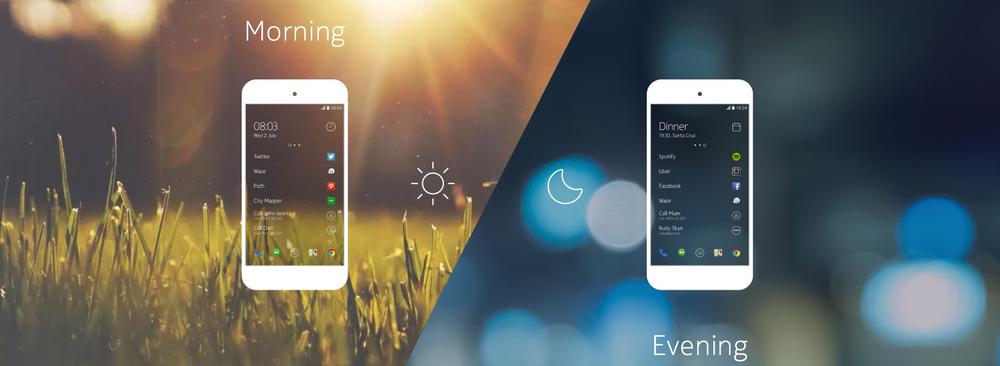 Et egendesignet menysystem skal gi smart tilgang på appene du trenger, når du trenger dem.