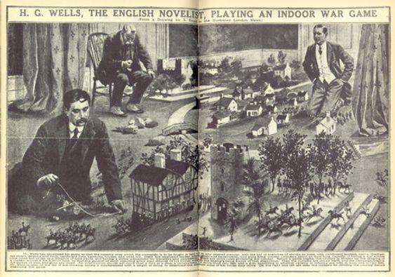Den kjente forfatteren H.G. Wells spiller Little Wars.