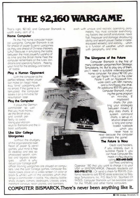 Annonsen for Computer Bismarck er like mye en annonse for personlige datamaskiner.