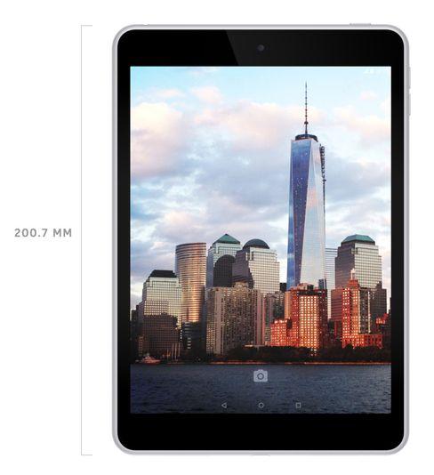 Slik ser Nokias nye N1 ut. På innsiden er det helt annerledes på alle vis, men på utsiden likner det mye på Apples iPad Mini.