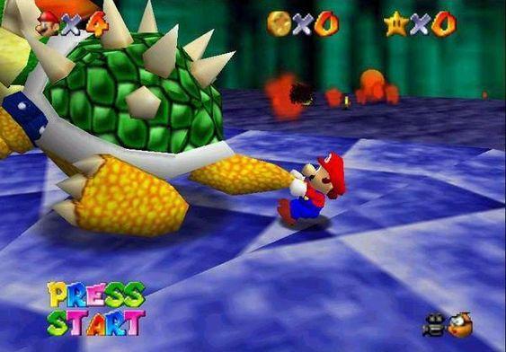 Overgangen til 3D førte til helt nye måter å interagere med fiender i Marios verden.