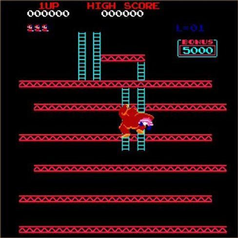 Donkey Kong var et av de første spillene som fortalte en historie via animerte mellomsekvenser.