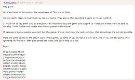 11 bit studios delte ut Steam-kodar til piratane.