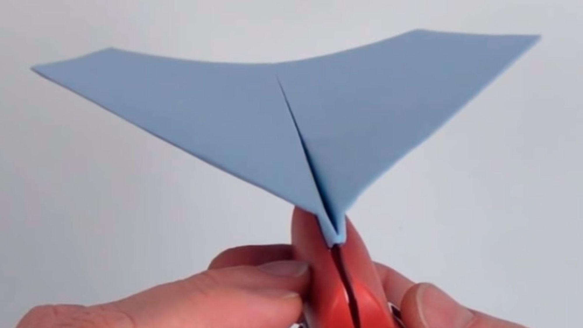 Les Dette papirflyet kan fly 60 meter