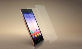 Huawei var først ut av de store mobilprodusentene med en satsing på safirglass. Ascend P7 Sapphire Edition har foreløpig ikke dukket opp i Norge.