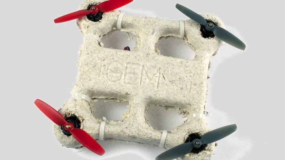 Denne dronen er laget av  sopp