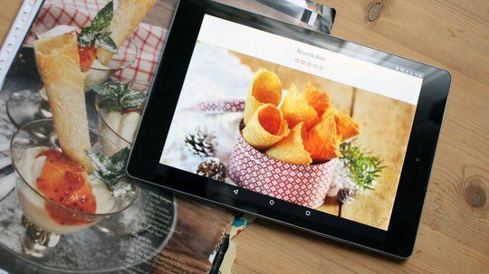 Skjermformatet er som på iPad. .