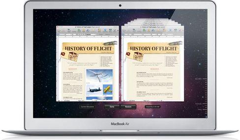 TIDSREISE: Time Machine lar deg tilbake i tid og finne gamle versjoner av dokumentet ditt.