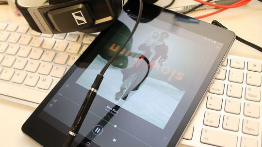 Ikke noe nettbrett leverer bedre musikkopplevelse enn HTC Nexus 9. .