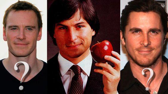 Ryktemakerne trodde lenge at Christan Bale (til høyre) skulle spille Steve Jobs. Michael Fassbender (til venstre) endte opp med rollen.