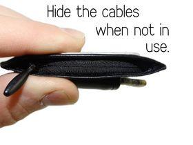 Kablene kan enkelt gjemmes bort når du ikke trenger dem.