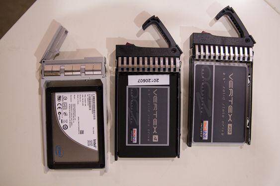 Et par av de vanlige SSD-ene Redpill Linpro har eksperimentert med.