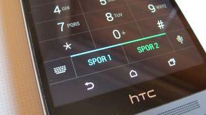 Når du har valgt nummeret du skal ringe til, kan du enkelt velge hvilket SIM-kort du skal ringe fra.