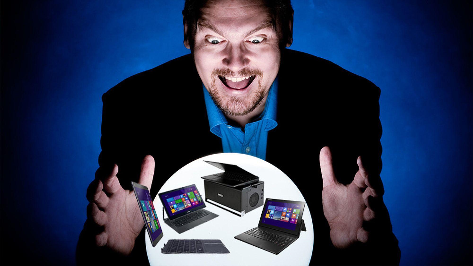 Vi har skuet inn i krystallkulen og sett fremtidens bærbare PC-er. Den første ankommer allerede denne måneden.