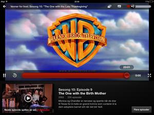 Pauseskjermen på iPad. 10 sekunder senere så er neste episode i gang.