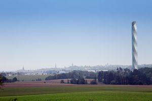 Testtårnet som nå bygges i Tyskland.