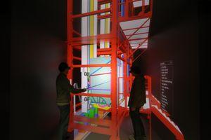 En 3D-modell av MULTI-heisen.