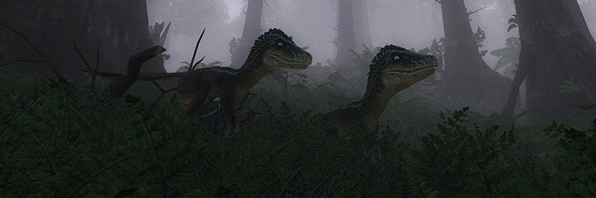 Les Dra på dinosaurjakt i desember
