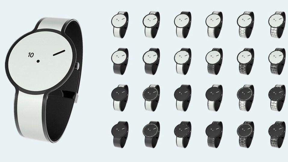 FES Watch har 24 forskjellige designmønstre å velge mellom.