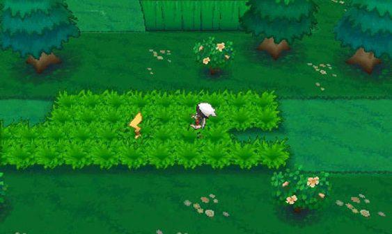 DexNav lar deg liste deg innpå Pokémon som stikker hode eller hale opp av gresset.