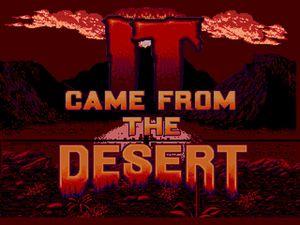 Fra ørkenen til Megadrive.