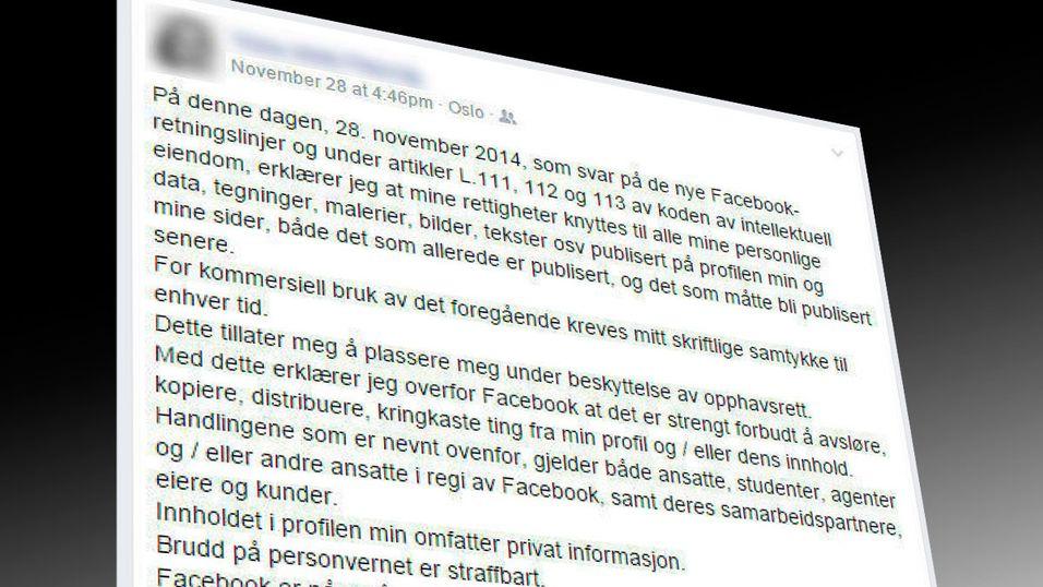 Bløff-tekst sprer seg på Facebook