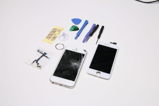 Her er delene vi bestilte på Ebay til vår iPhone 5. .