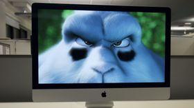 Den gamle skjermen skal ifølge rykter erstattes av en ny 5K-skjerm lik den som sitter i dagens iMac, her avbildet.