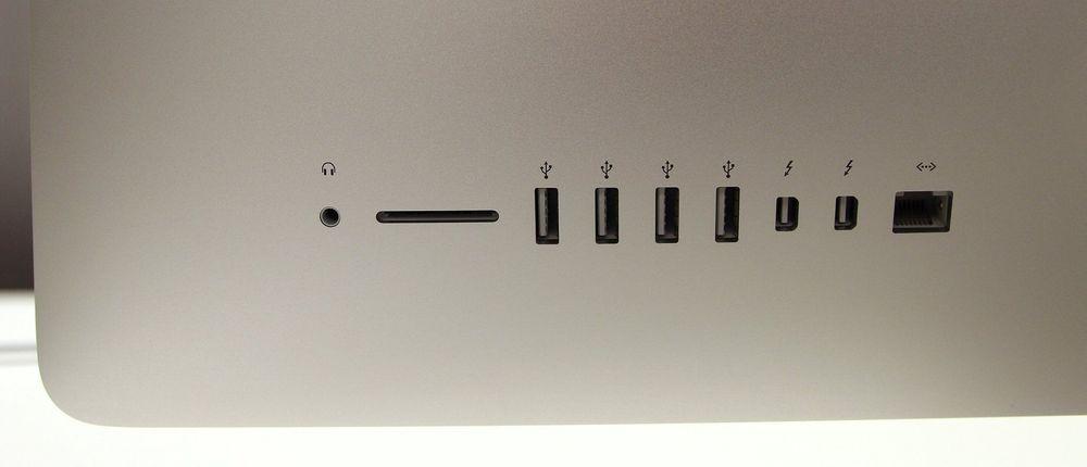 Datamaskinen har Bluetooth 4.0 og 802.11ac trådløst nettverk. I tillegg kommer lydutgang, minnekortleser, fire USB 3.0-porter, to Thunderbolt 2-porter og gigabit LAN-port.